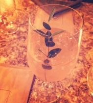 Dead Wine Spritz on the artichoke thistle table