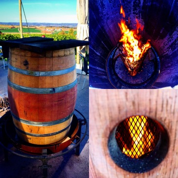 Toasting process whole overlooking the Gaspereau Valley